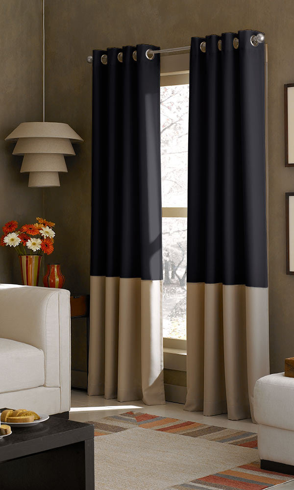 Two Tone Color Block Curtains From Spiffy Spools I Free Shipping