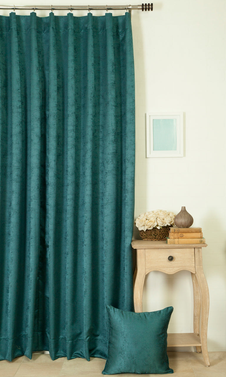 teal blue custom curtains image