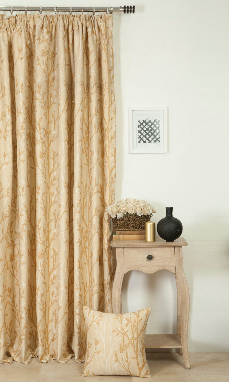 beige custom curtains image. Narrow Curtains.