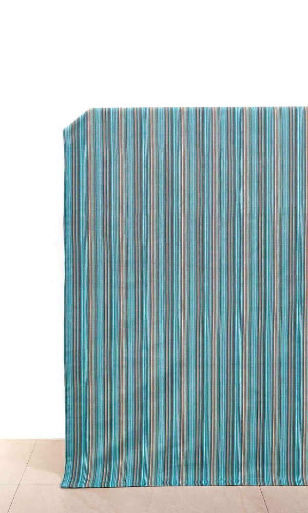 blue custom cotton curtains image. Short Length Curtains