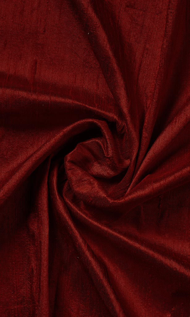 Maroon Pure Silk Curtains I Handstitched and Shipped for Free I Custom Window Drapes. Narrow Curtains.