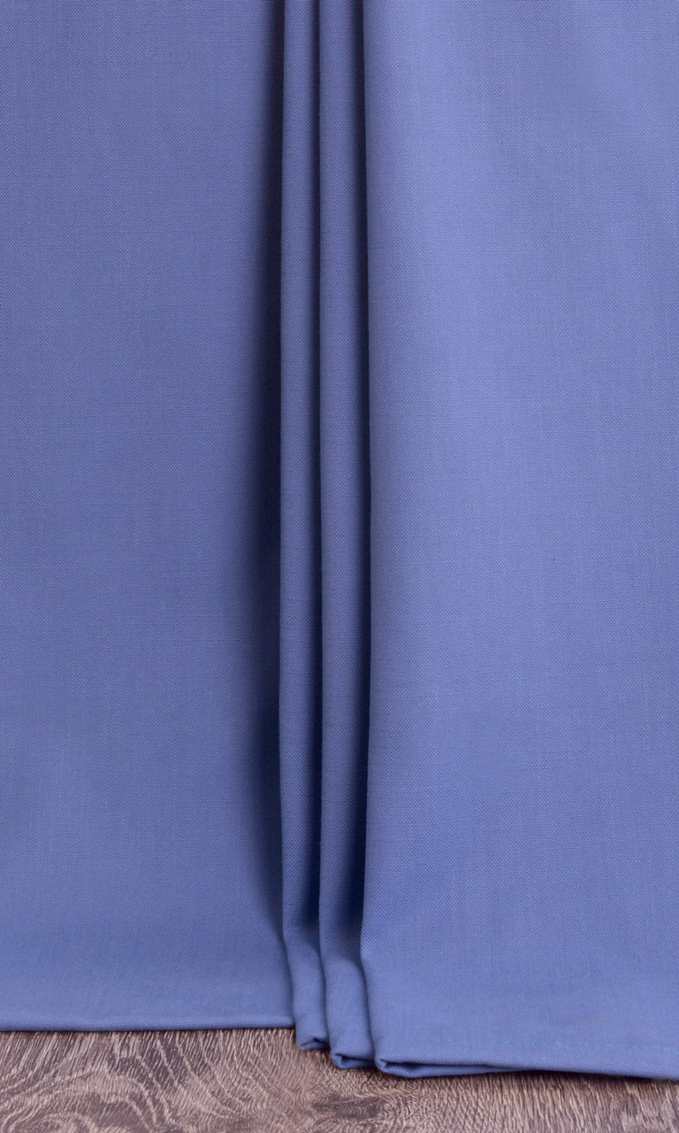 Elegant Textured Blue Bedroom Nursery Playroom Drapery Drapes Image