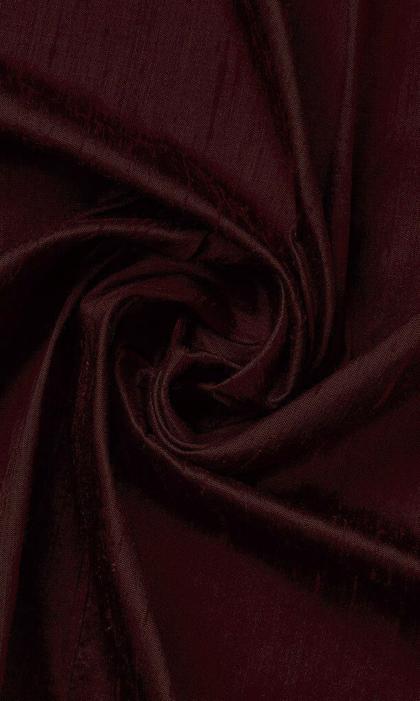 Dupioni Silk Window Curtains I Handstitched and Shipped for Free I Burgundy Red