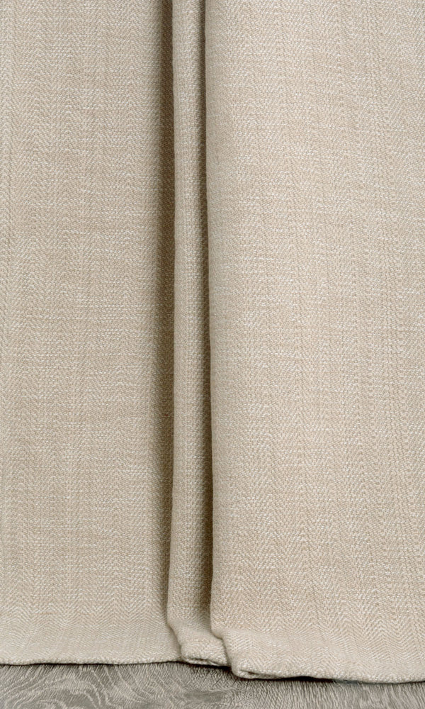 beige custom cotton curtains image I Extra Long