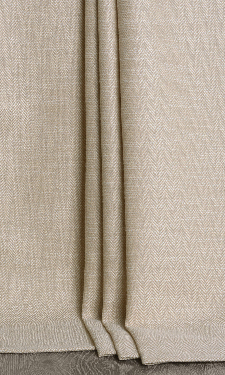 Beige Textured Custom Curtains
