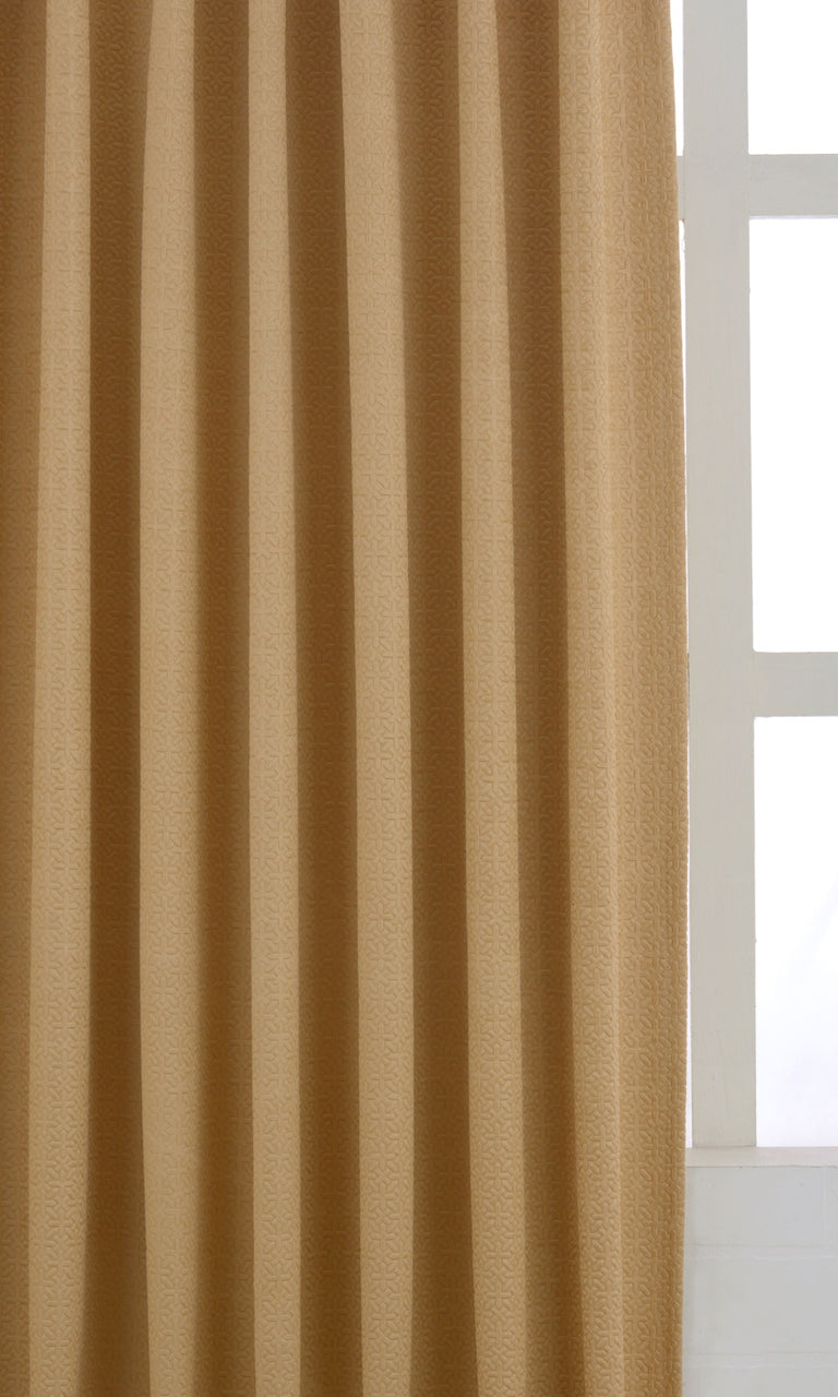 Yellow Blackout Window Treatment Bedroom Playroom Image. Narrow Curtains.
