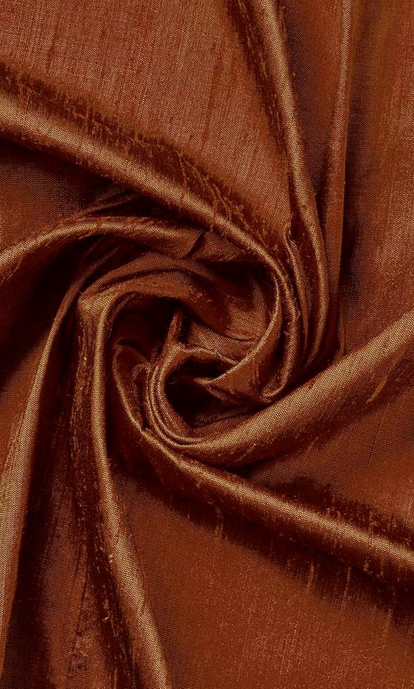 Copper Brown Pure Silk Curtains I Handstitched and Shipped for Free I Custom Window Drapes