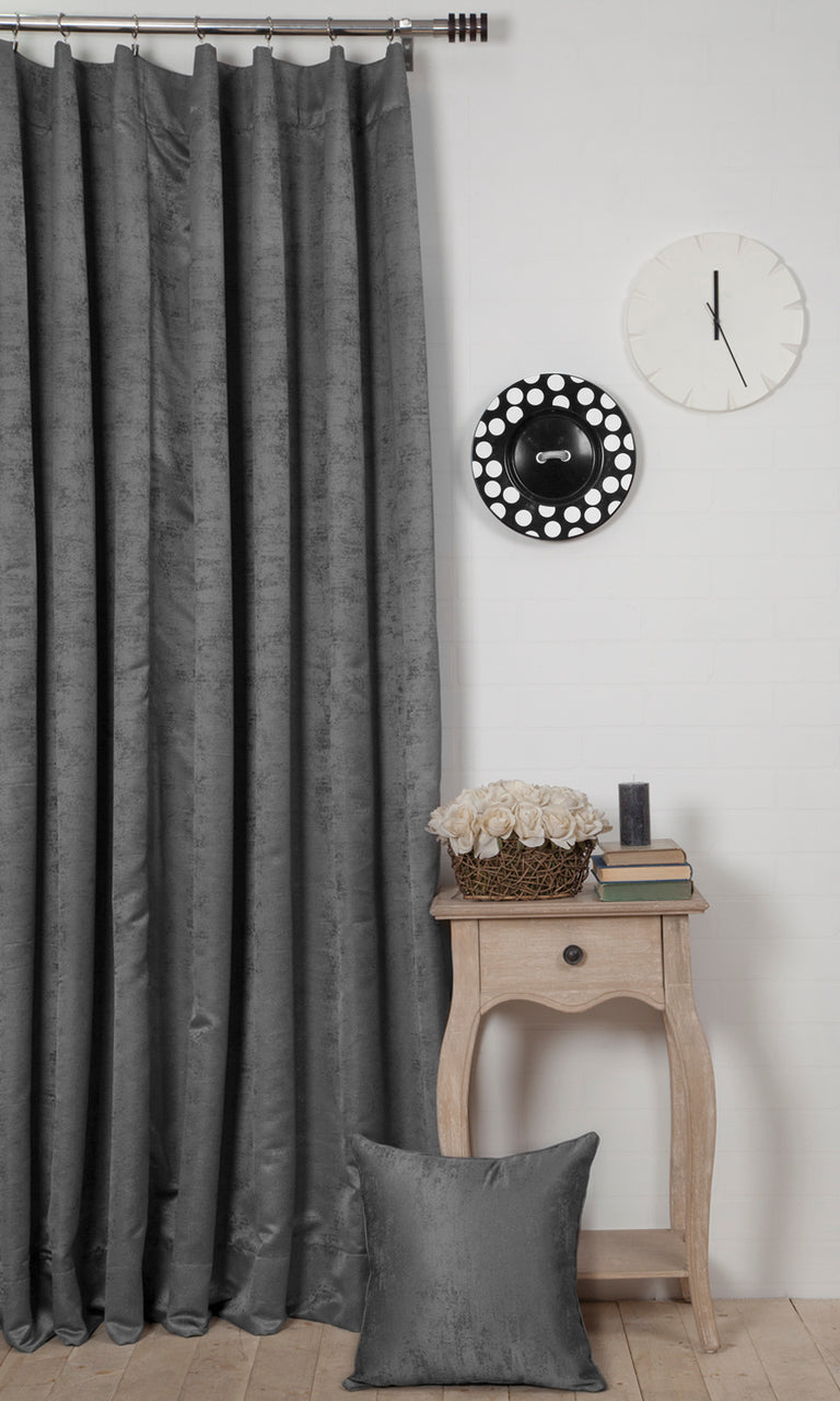 grey custom curtains image I Extra Long
