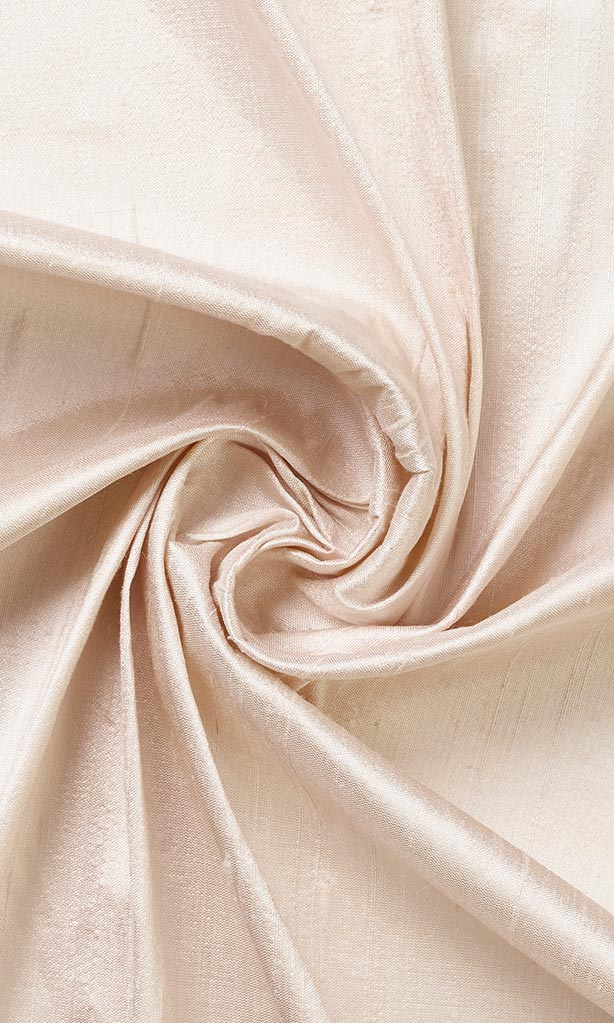 Peach Pure Silk Curtains I Handstitched and Shipped for Free I Custom Window Drapes
