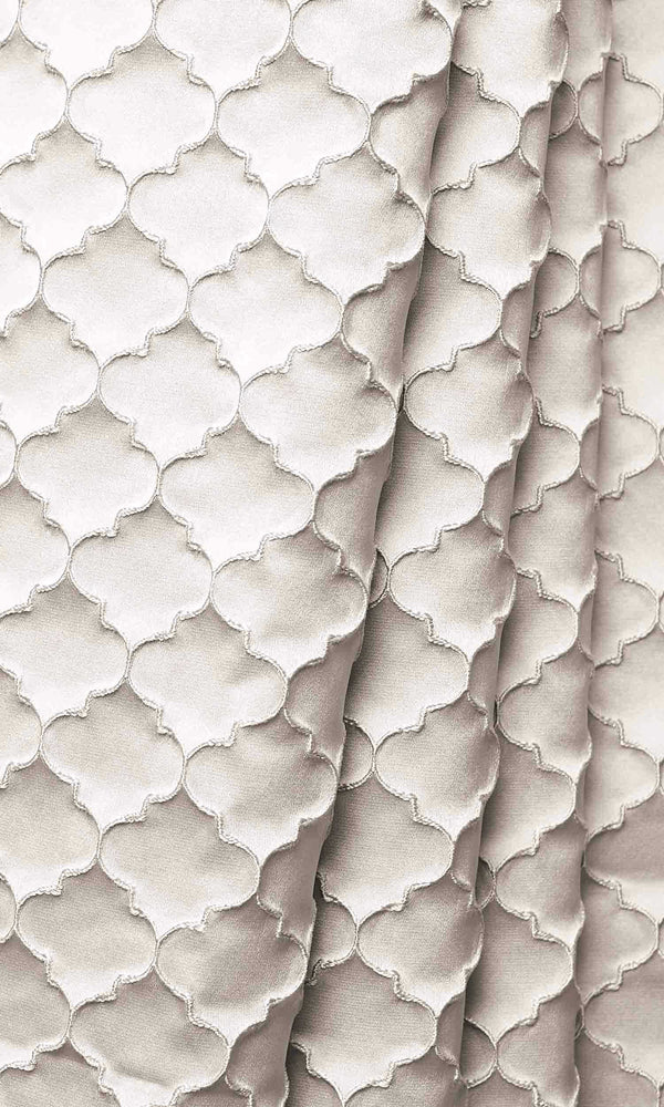 Seashell Ivory Silk custom Curtains