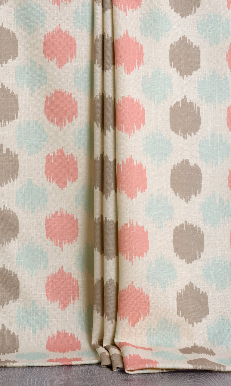Nursery print curtains. Narrow Curtains.