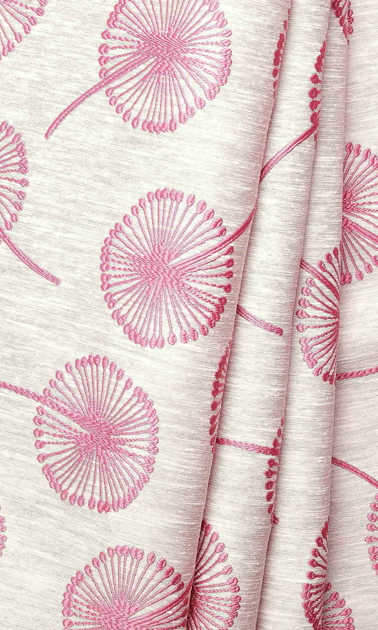 Pink Contemporary Floral Prints custom Curtains