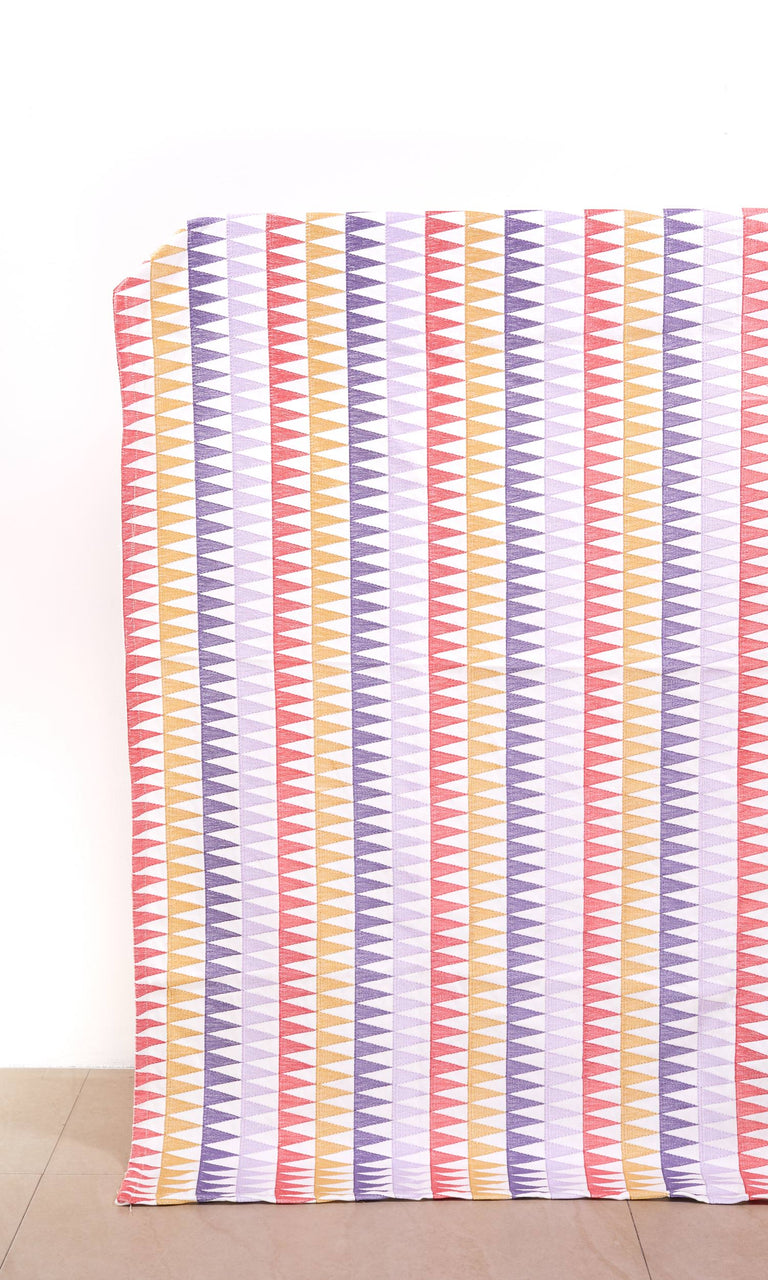 Candy Pink/ Periwinkle Purple/Pale Gray/ Biscotti Beige custom Curtains