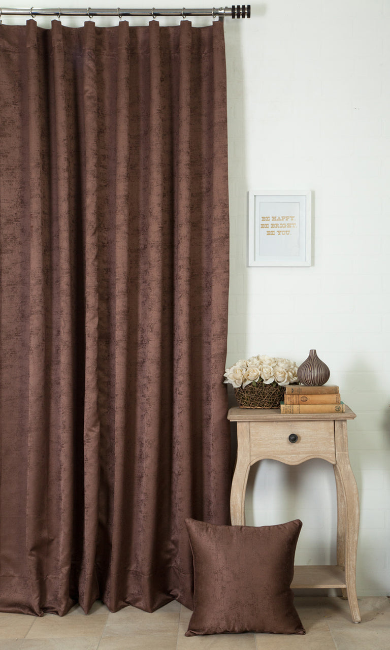 brown custom curtains image. Narrow Curtains.