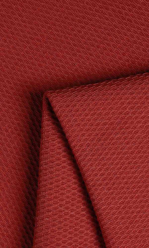 red custom cotton curtains image I Extra Long