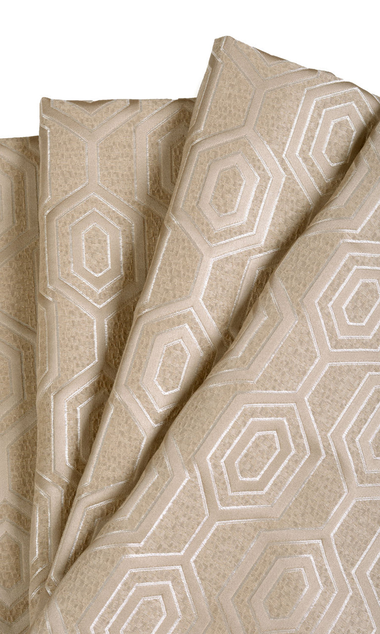 Jacquard Honeycomb Patterned Curtains I Extra Long