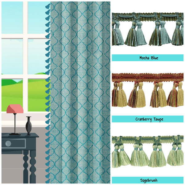 buy custom length drapes with trims