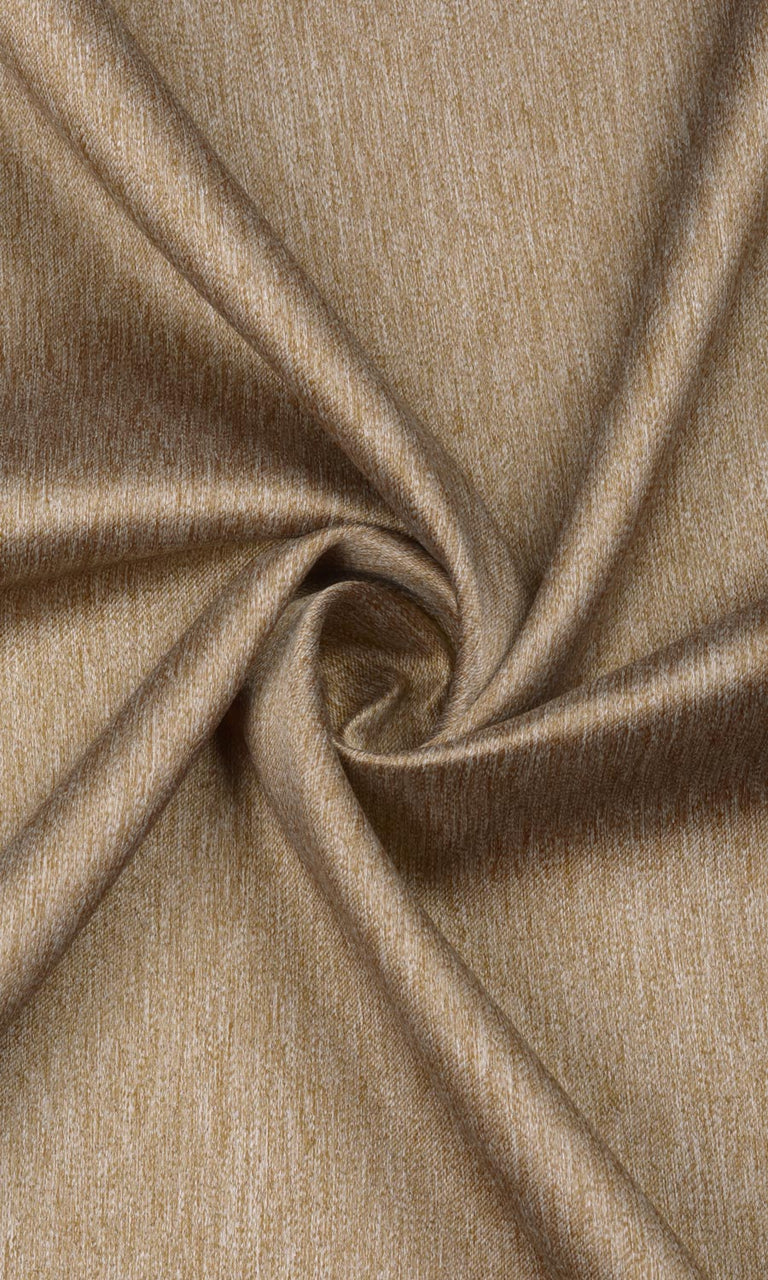 Brown Textured Room Darkening Blackout Bedroom Curtains Image
