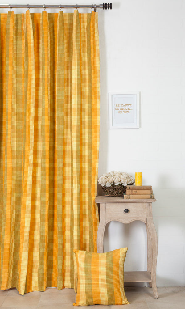 Extra Wide I yellow custom cotton curtains image
