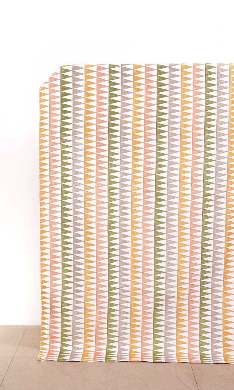 Leaf Green/ Rose Pink/ Ripe Peach/ Toffee Beige/ Chestnut Brown custom Curtains I Extra Long