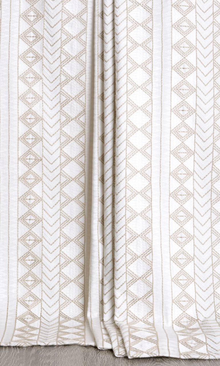 Geometric Patterned Curtains  I Extra Long