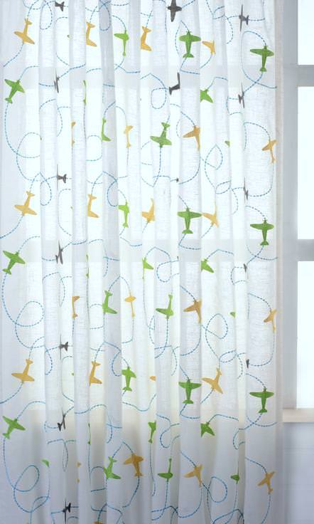 White / Green / Yellow / Blue Semi Sheer Linen custom Curtains