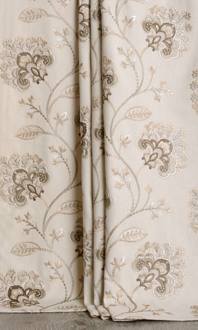 Vine Embroidered Curtains I Extra Long
