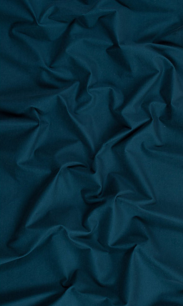 prussian blue custom cotton curtains image. Short Length Curtains