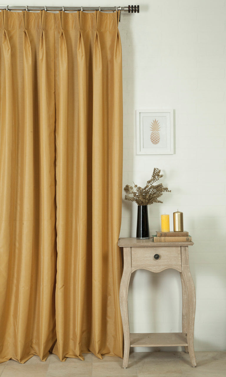 yellow custom curtains image