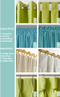 custom curtains in teal blue image