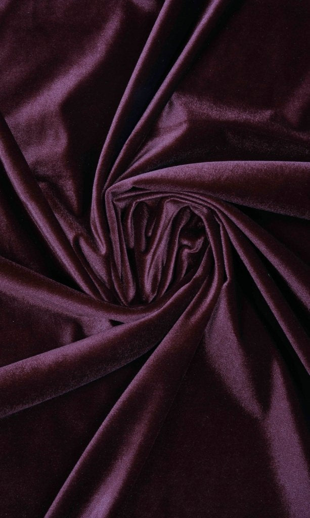 purple velvet curtains