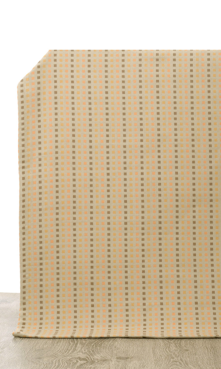 beige custom cotton curtains image