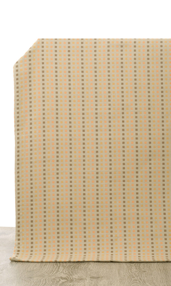 Extra Wide I beige custom cotton curtains image