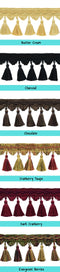curtains photo with decorative tassels window curtains photo