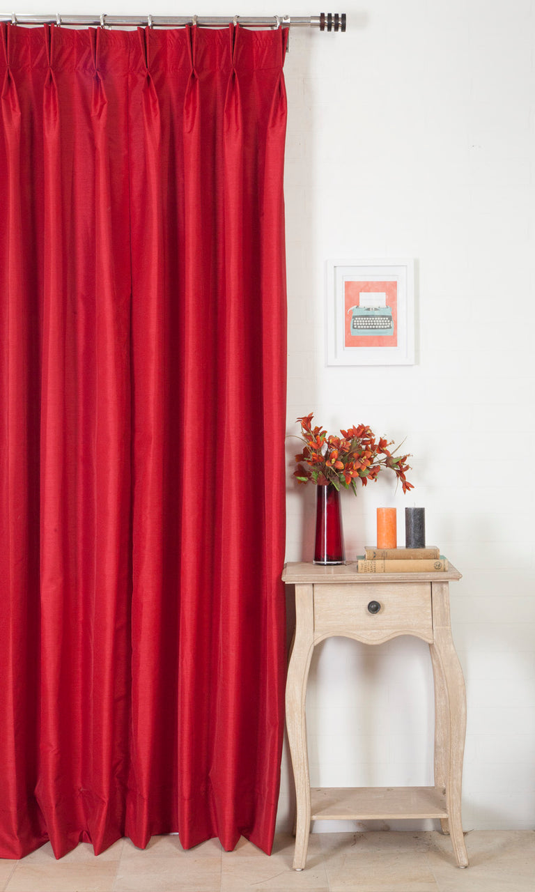 Extra Wide I red custom curtains image