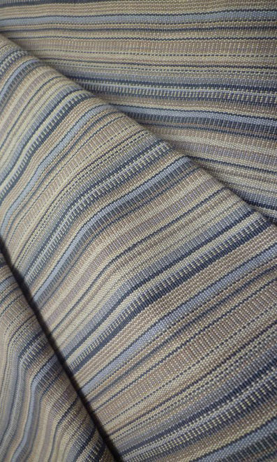 blue brown custom cotton curtains image