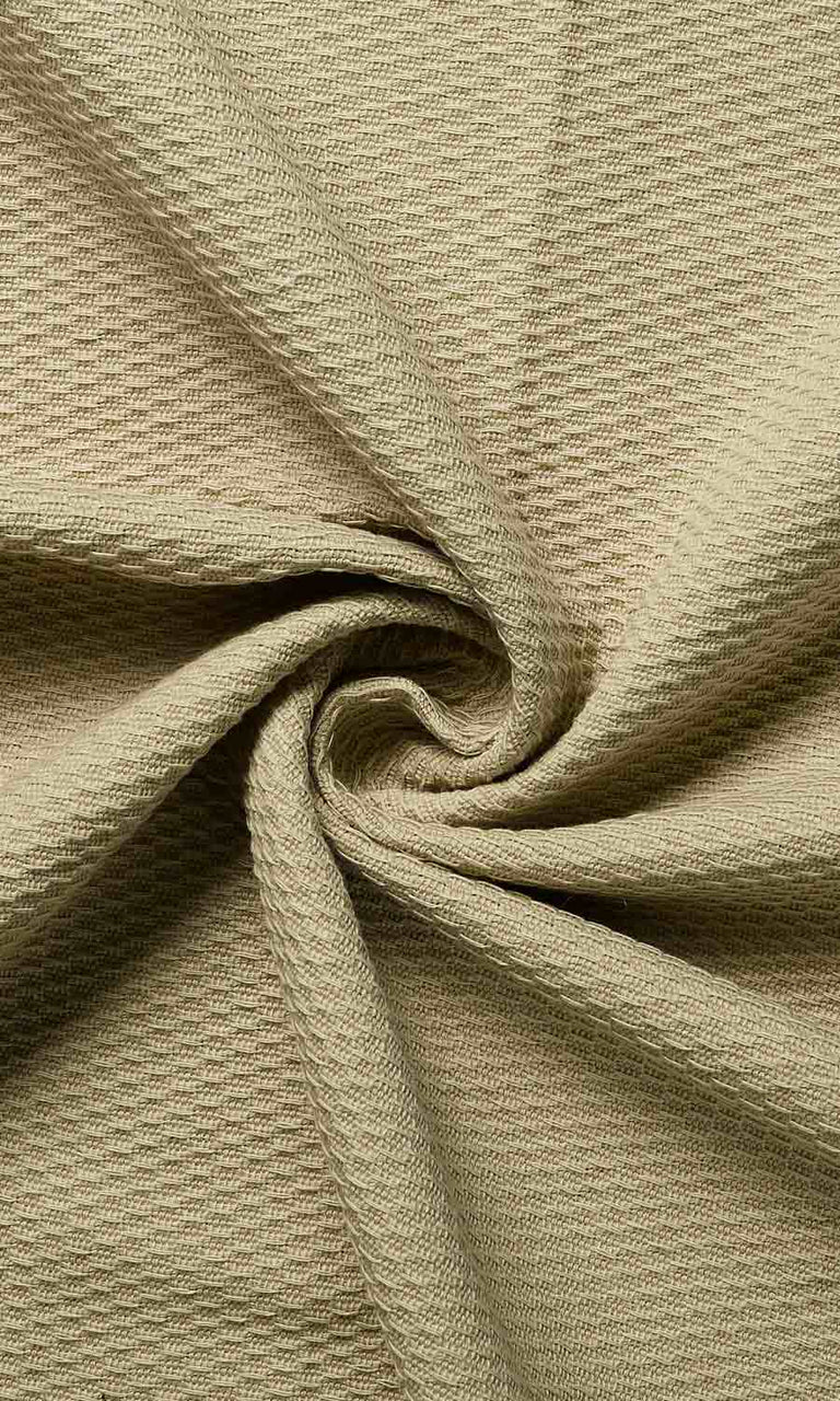 Beige Green custom cotton curtains image