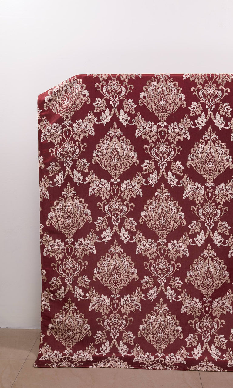 Red Patterned custom Curtains