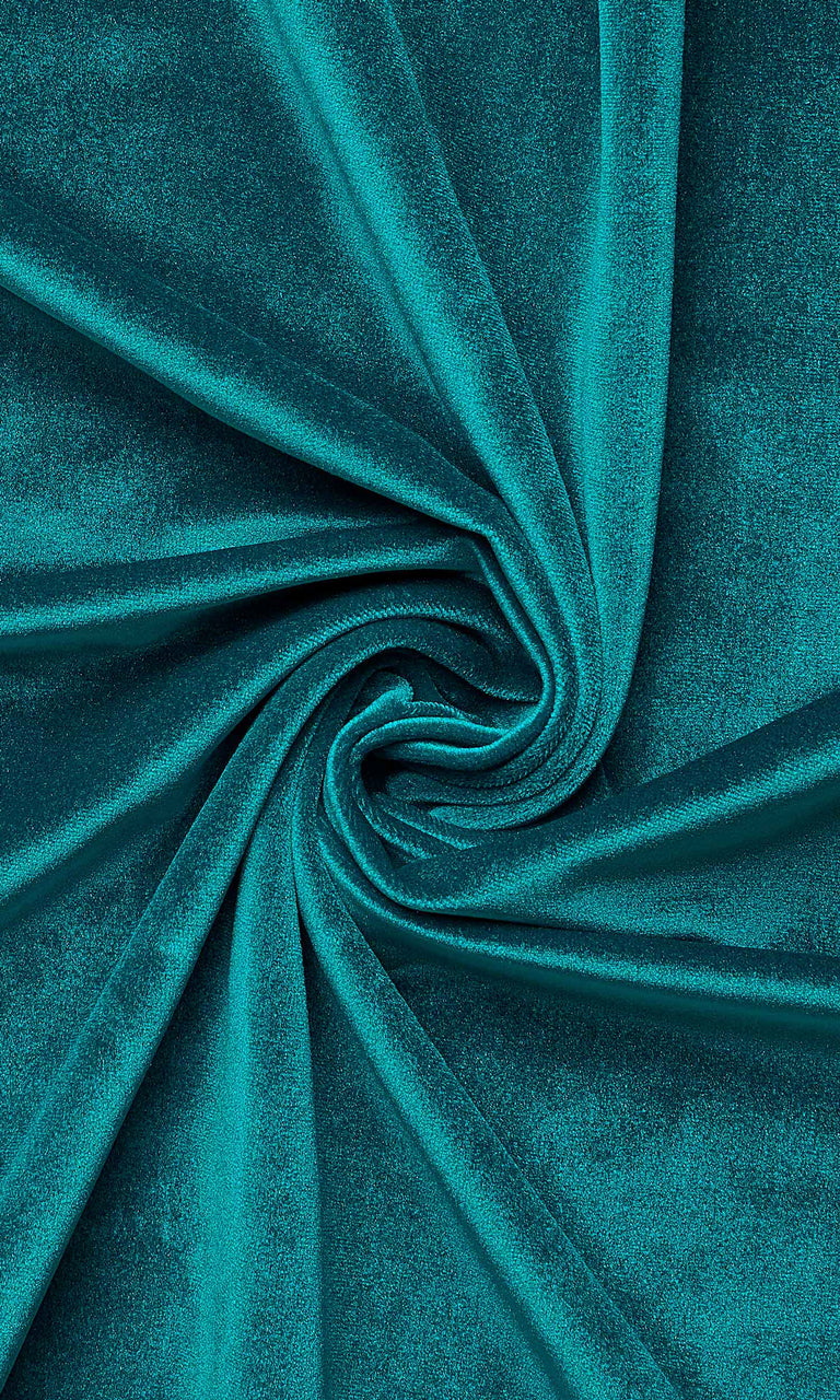 Teal Blue Velvet custom Curtains