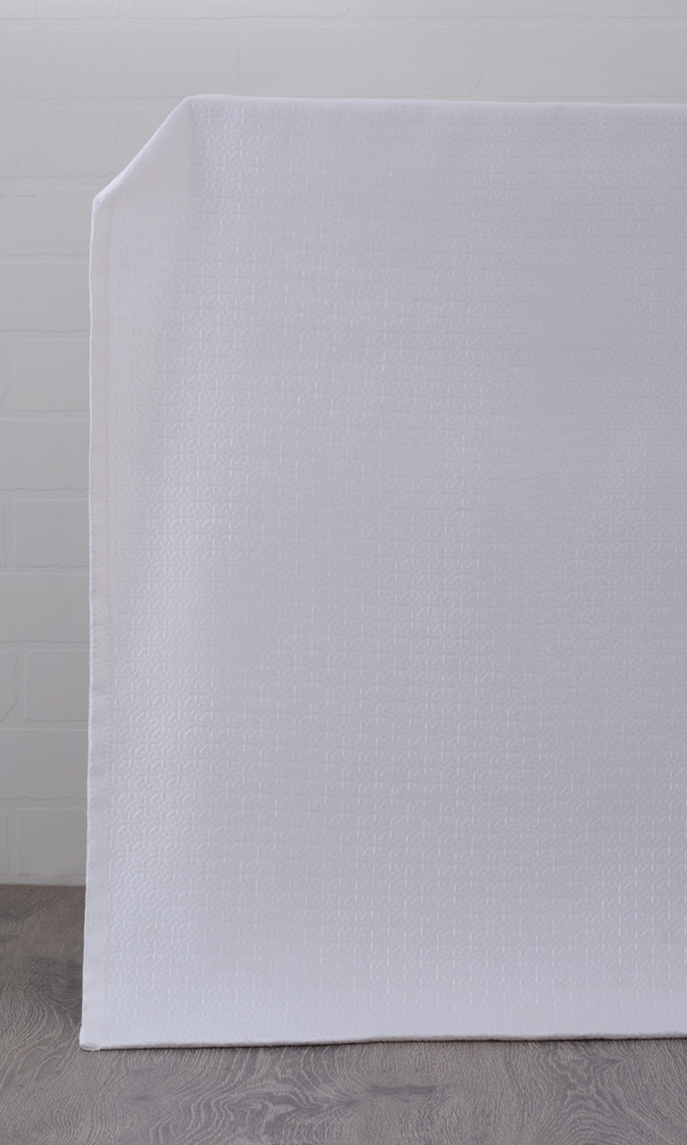 Textured White Room Darkening Blackout Curtains Image