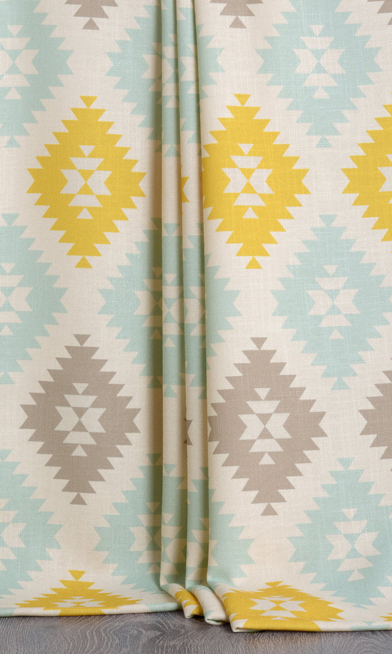 Argyle print curtains