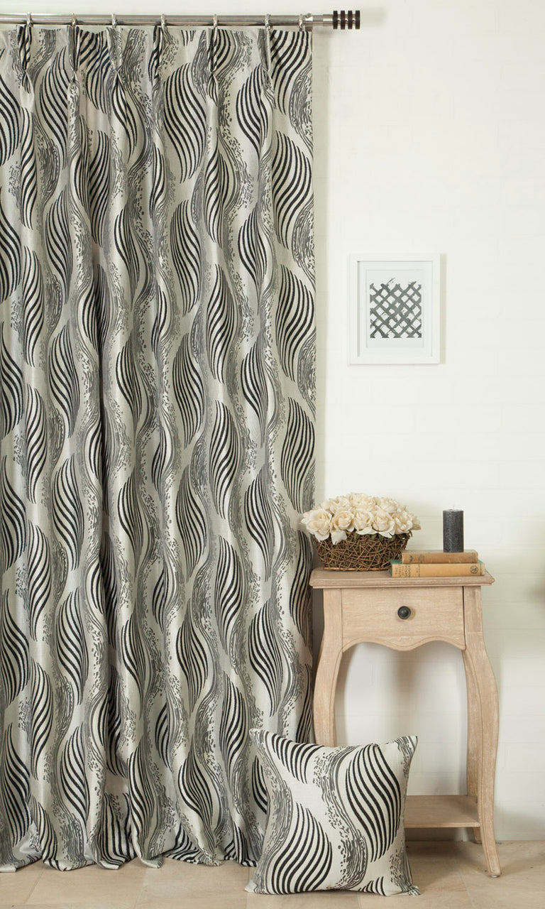 grey and black custom curtains image