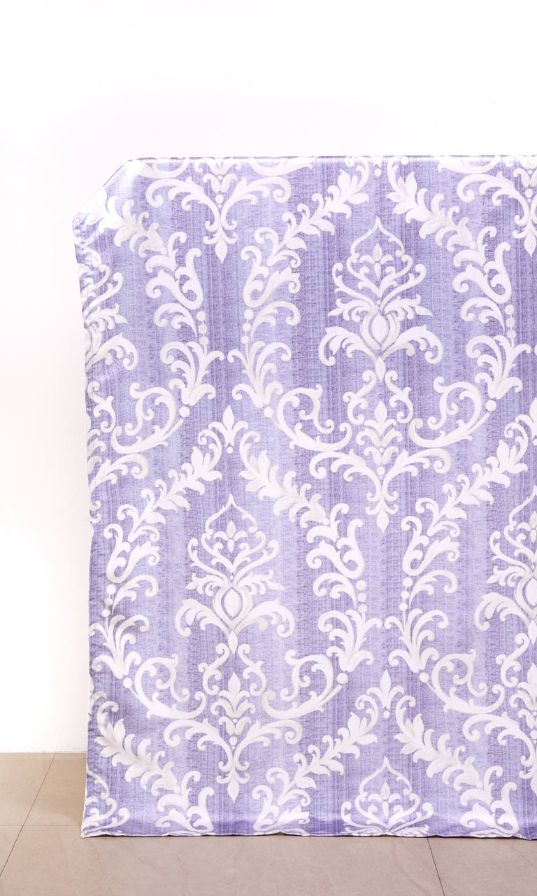 Lilac/ White custom Curtains I Extra Long