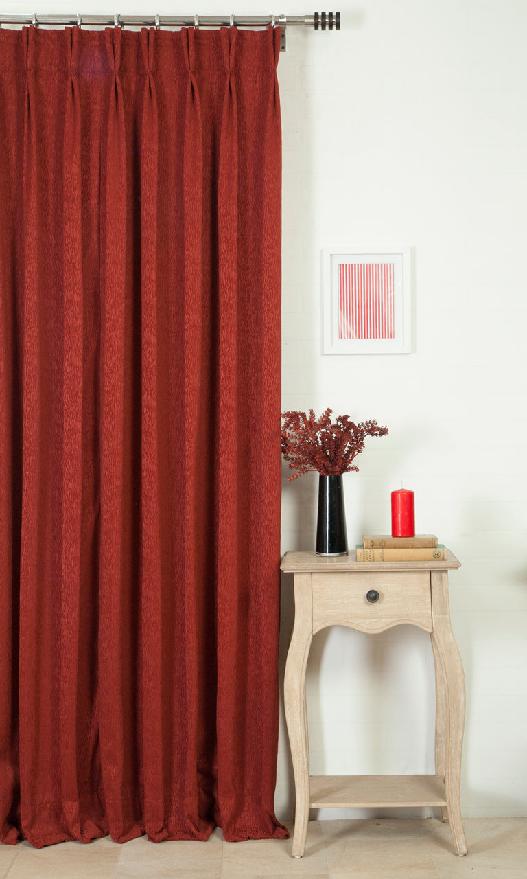 red custom curtains image. Narrow Curtains.