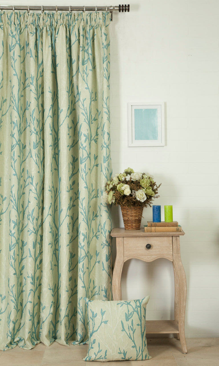 blue green custom curtains image