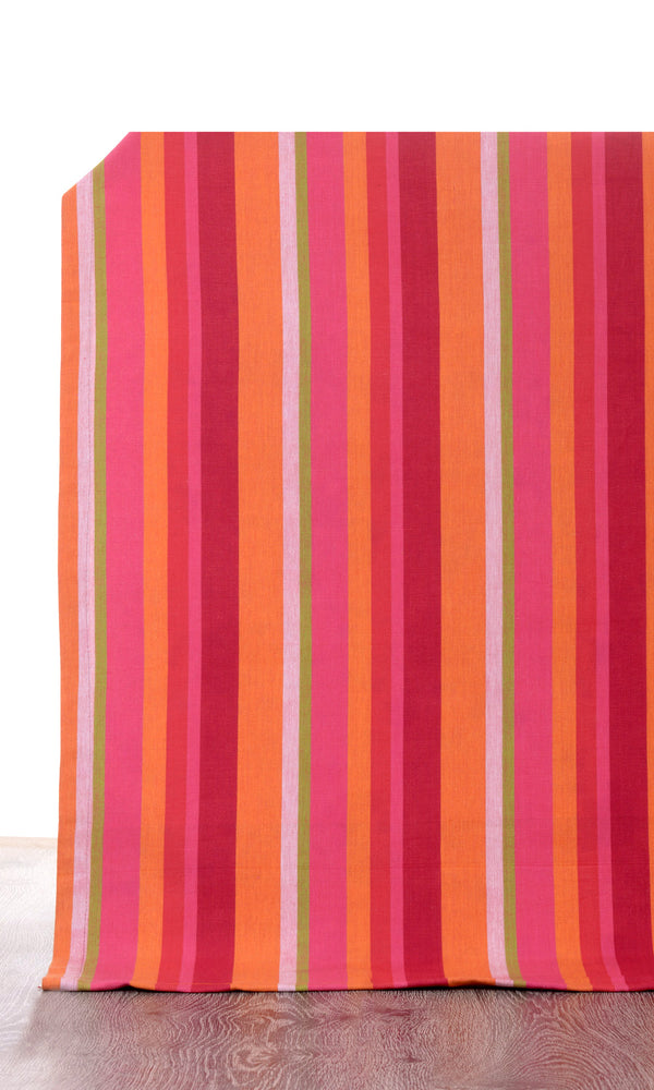 orange or pink custom cotton curtains image I Extra Long