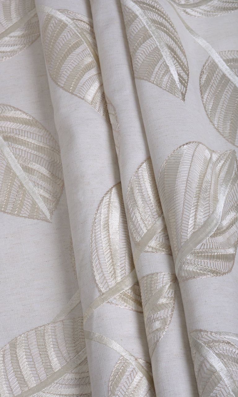 Cream cotton curtains
