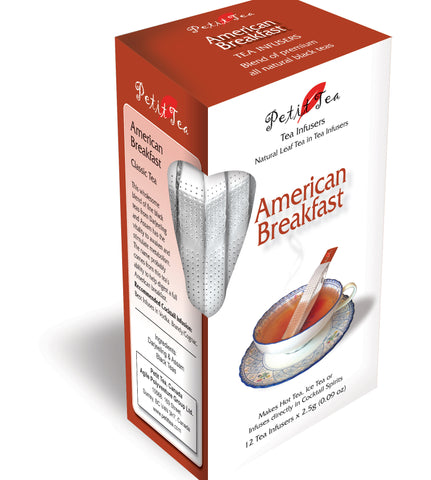 American Breakfast Tea Blend Of Premium All Natural Black Teas  Petit Tea Infusers Tea Sticks Tea Infuser Tea Stick Loose Leaf Tea Natural Whole Leaf Tea In Tea Infusers Makes Hot Tea Iced Tea or Infuses Directly into Cocktail Spirits Darjeeling & Assam Black Tea