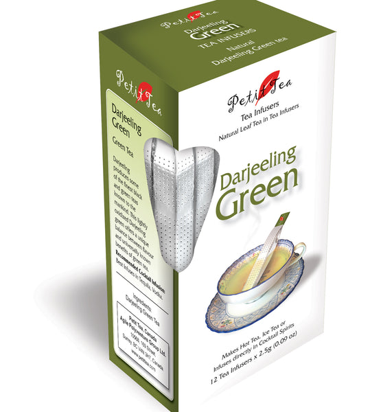 Darjeeling GreenTea Natural Darjeeling GreenTea Petit Tea Infusers Tea Sticks Tea Infuser Tea Stick Loose Leaf Tea Natural Whole Leaf Tea In Tea Infusers Makes Hot Tea Iced Tea or Infuses Directly into Cocktail Spirits