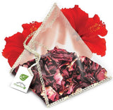 NNO Organic Hibiscus Infusion Pyramid Sachets Caffeine Free Dried Hibiscus Flower Petals & Parts USDA Certified Organic Naturals n Organics Petit Tea